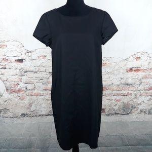 Brooks Brothers 12 Woven Black Wool Sheath Dress